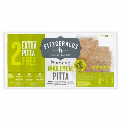 Country Kitchen Wholemeal Pitta & 2 Extra Free 480g