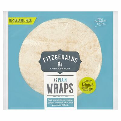 Fitzgeralds Family Bakery 6 Plain Wraps 370g