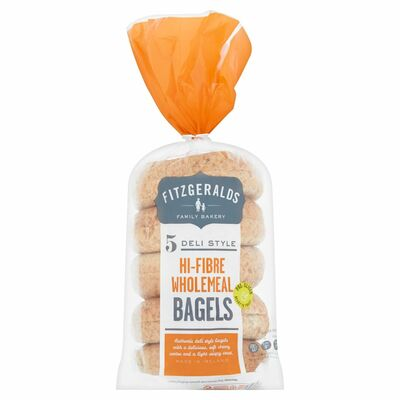 Fitzgeralds 5 Wholemeal Bagels 400g