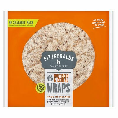 Fitzgeralds 120 Cal Multiseed Wraps 6pce