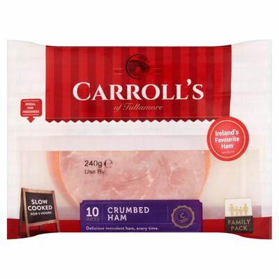 Carroll's Family Parchment Crumbed Ham 220g