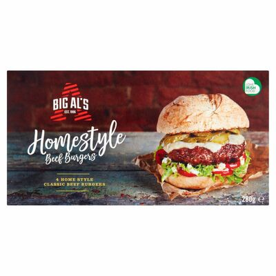 Big Al's Homestyle Beef Burgers 4 Pack 280g