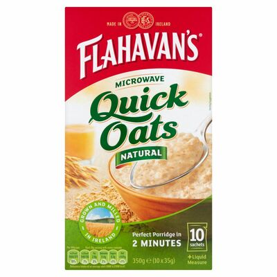 Flahavan's Quick Oats Sachets Natural 350g