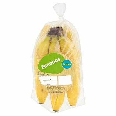 CENTRA SNACK PACK BANANAS 6PCE