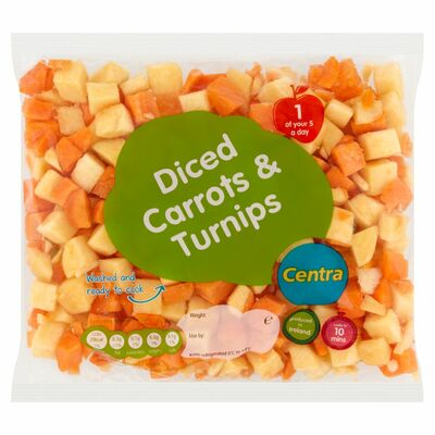 CENTRA CARROT & TURNIP DICED 500G