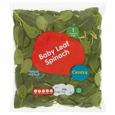 CENTRA WASHED BABY LEAF SPINACH 85G