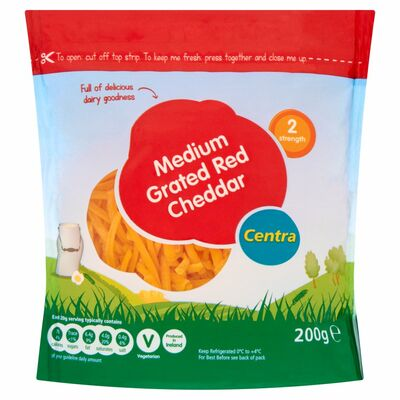 Centra Medium Red Cheddar Grated 200g