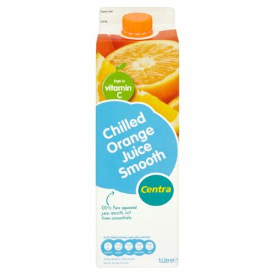 Centra Orange Juice Smooth Not From Concentrate 1ltr