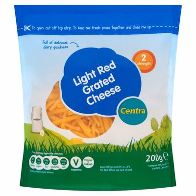 Centra Light Cheddar Cheese Grated 200g