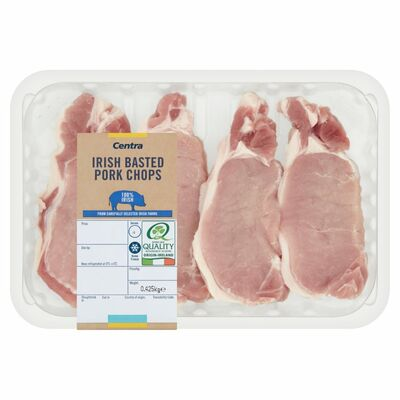 CENTRA FRESH IRISH BASTED PORK CHOP 4 PACK 425G