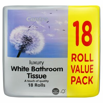 Centra Luxury Bathroom Tissue White 18Roll