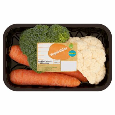 Centra Fresh Irish Carrot/Cauliflower/Broccoli Tray