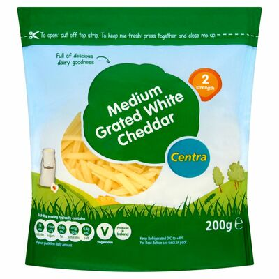 Centra Medium White Grated 200g