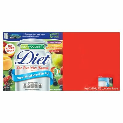 Irish Yogurts Diet Variety 125g