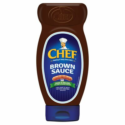 Chef Brown Sauce Squeezy 485g