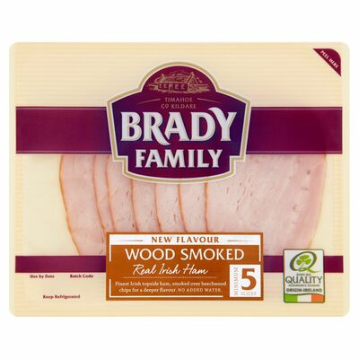 Brady Family Wood Smoked Ham Slices 90g