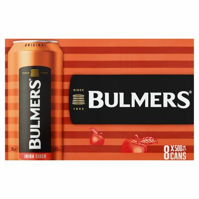 BULMERS CAN PACK 8X500ML