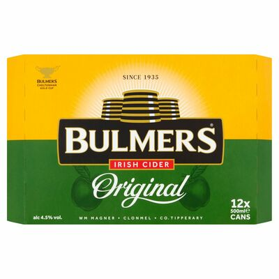 BULMERS CAN PACK 12 X 500ML