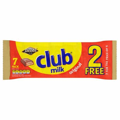 Jacob's Club Milk 5+2 Free Pack 24g