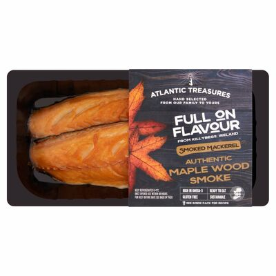Atlantic Treasures Maple Smoked Mackerel 170g
