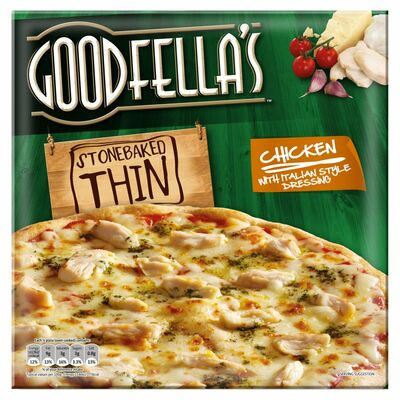 Goodfella's Thin Chicken With Italian Dressing Pizza 355g
