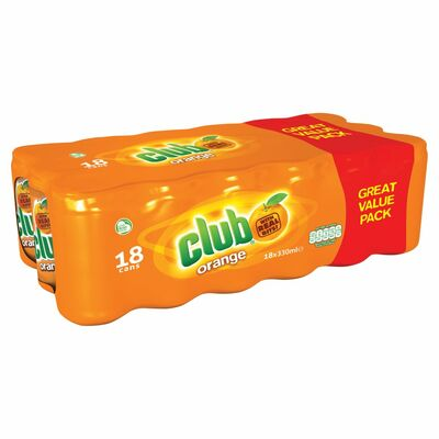 Club Orange Can Pack 18 x 330ml