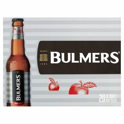 BULMERS LIGHT BOTTLE PACK 20X300ML