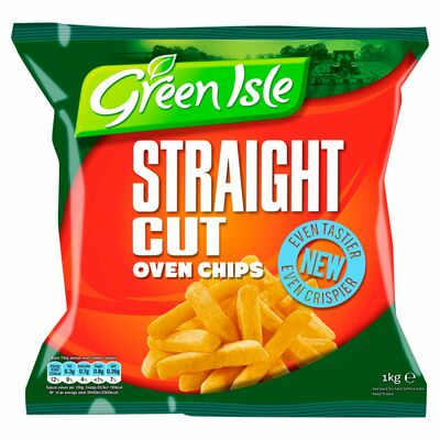 Green Isle Straight Cut Oven Chips 1kg