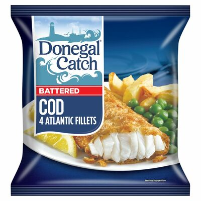 Donegal Catch Battered Cod 4 Pack 429g