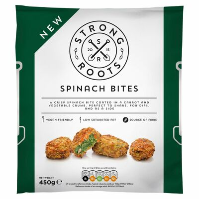 Strong Roots Spinach Bites 450g