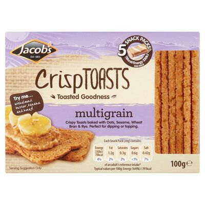 Jacob's Crisp Toast Multigrain 100g