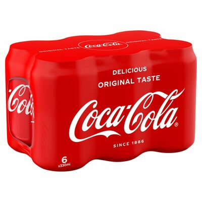Coca-Cola Can Pack 6 x 330ml