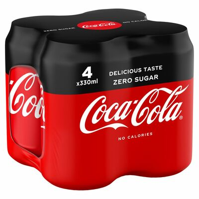 Coca-Cola Zero Can Pack 4 x 330ml