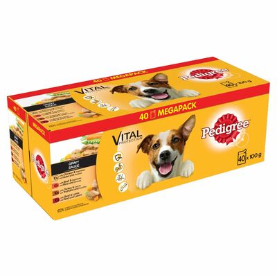 Pedigree Pouch Meat & Vegetable 40 Pack 4kg