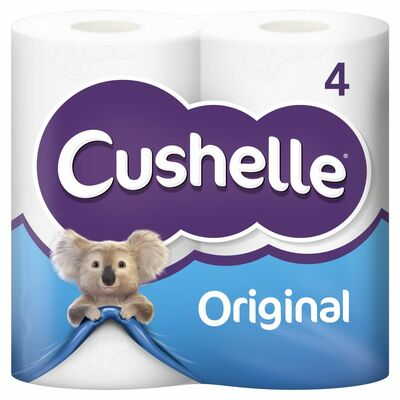 Cushelle White Toilet Tissue 4Roll