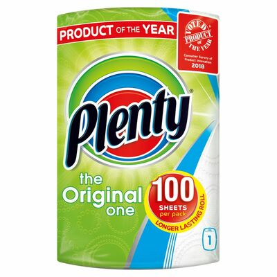 Plenty White Kitchen Roll 100 Sheets 1pce