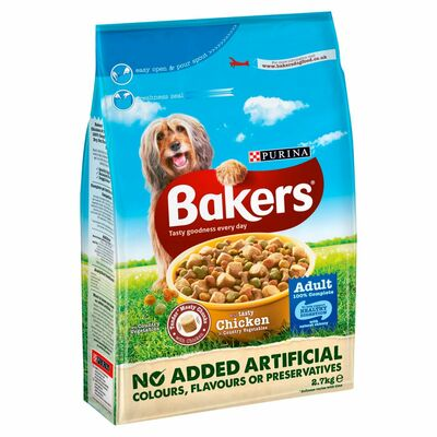 Bakers Adult Chicken And Vegetable Dry Food 2.7kg