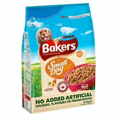 Bakers Small Dog Beef & Veg 2.7kg