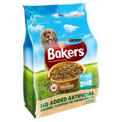 Bakers Puppy Chicken And Vegetable Dry Food 2.7kg