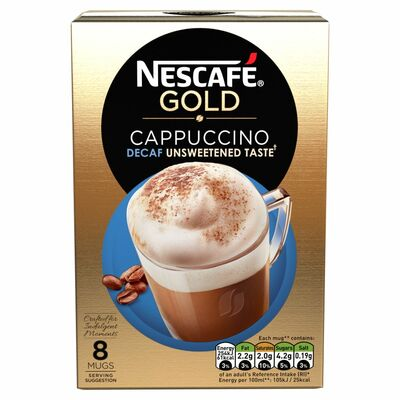 Nescafe Gold Cappucino Decaf Unsweetened 120g