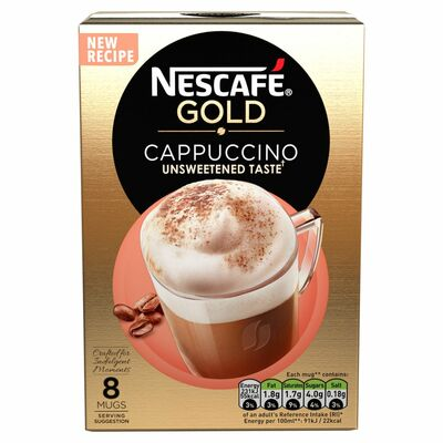 Nescafe Gold Cappucino Unsweetened 116g