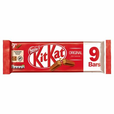 Nestlé Kit Kat 2 Finger Milk Chocolate Biscuit Bar 9 Pack 186g
