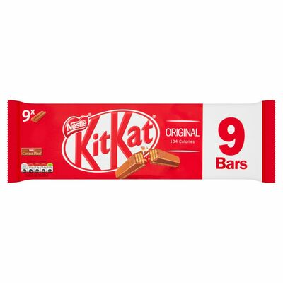 Nestlé KitKat 2 Finger Milk Chocolate Biscuit Bar 9 Pack 186g