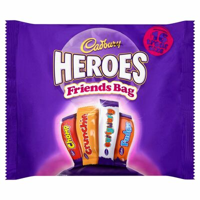 CADBURY HEROES FRIENDS TREATSIZE 225G