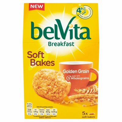 Belvita Breakfast Biscuits Soft Bakes Golden Grain 250g