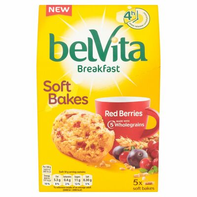 Belvita Breakfast Biscuits Soft Bakes Red Berries 250g