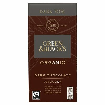 Green & Blacks 70% Dark Chocolate Bar 90g
