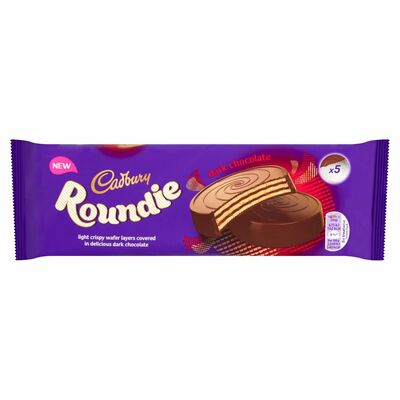 Cadbury Roundie Dark Chocolate Biscuits 5 Pack 150g