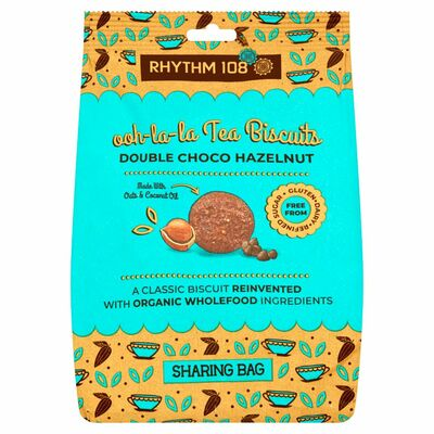 Rhythm 108 Tea Biscuit Double Chocolate Hazelnut Sharing Bags 160g