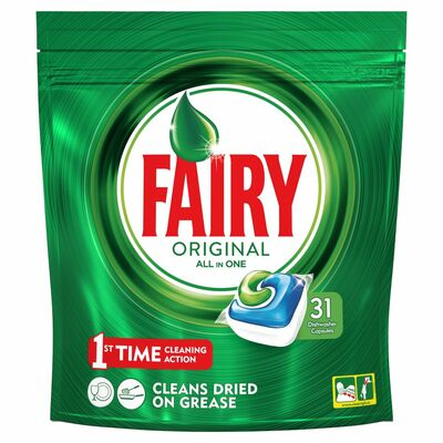 Fairy Original All In One Dishwasher Capsules 31pce